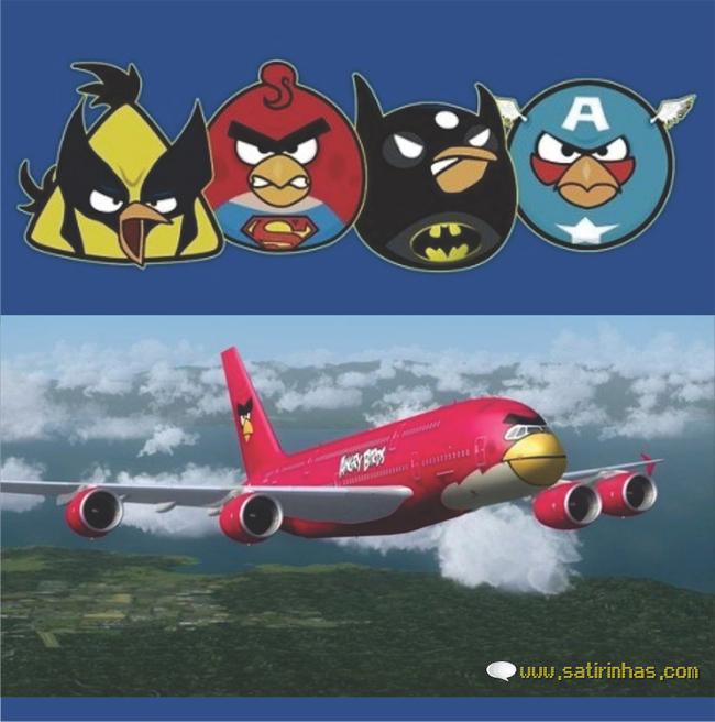 Desenhos Angry Birds Heróis
