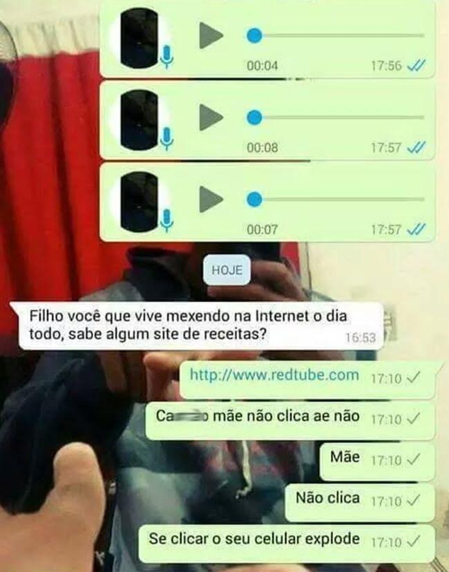Perigo no Whatsapp! A mãe, o filho e a mensagem suspeita