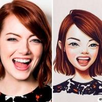 A artista russa que transforma celebridades em desenhos adoráveis.