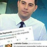 Quando Evaristo Costa perde a paciência.