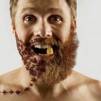 Selfies, barbas e objetos. Muito interessante.