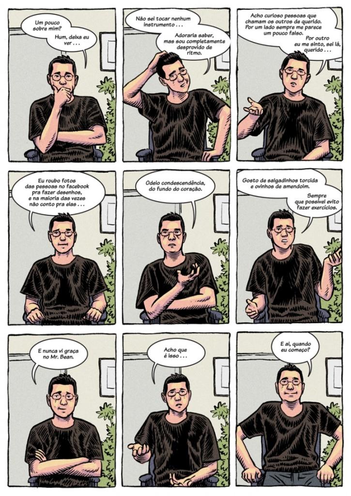 quadrinhos sobre pessoas curiosas