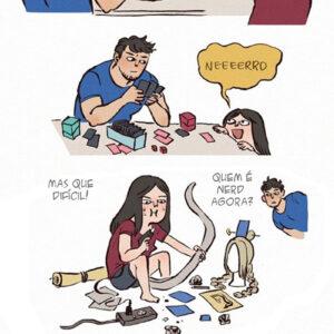 Um casal nerd pode ser muito feliz junto
