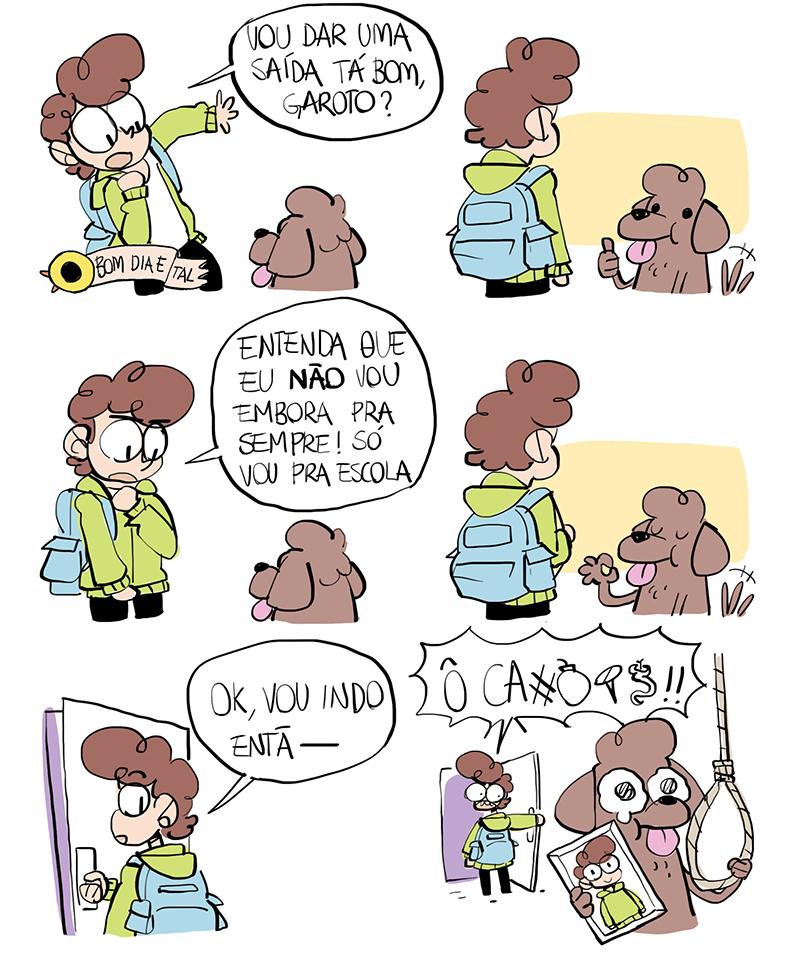 Uma pergunta inocente para o cão amoroso