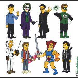 E se eles fossem Simpsons?