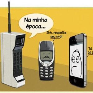 Novos celulares! O conflito de gerações