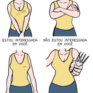 Reconhecendo a linguagem corporal da mulher