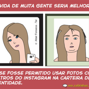 A foto da carteira de identidade