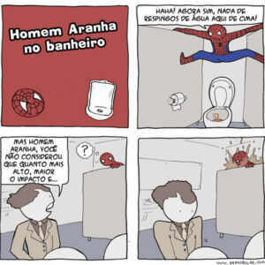 Homem-Aranha no banheiro