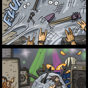 Homem-Aranha não pode ir a shows de rock