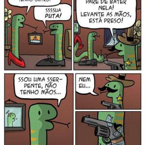 A cobra armada