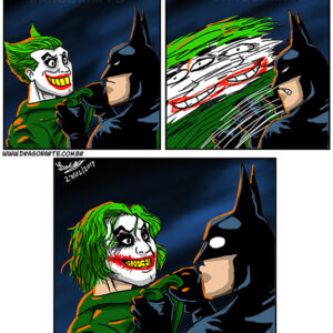 Batman e Coringa acertando as contas