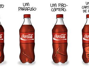 Coisas estranhas achadas em garrafas de Coca-Cola