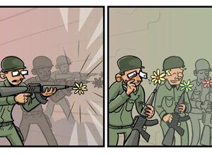 Uma tirinha pela paz