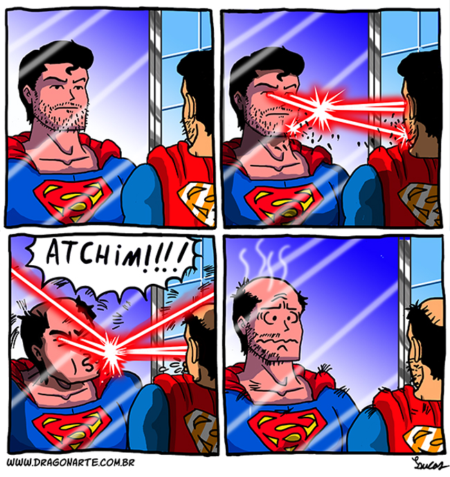 Superman se barbeando
