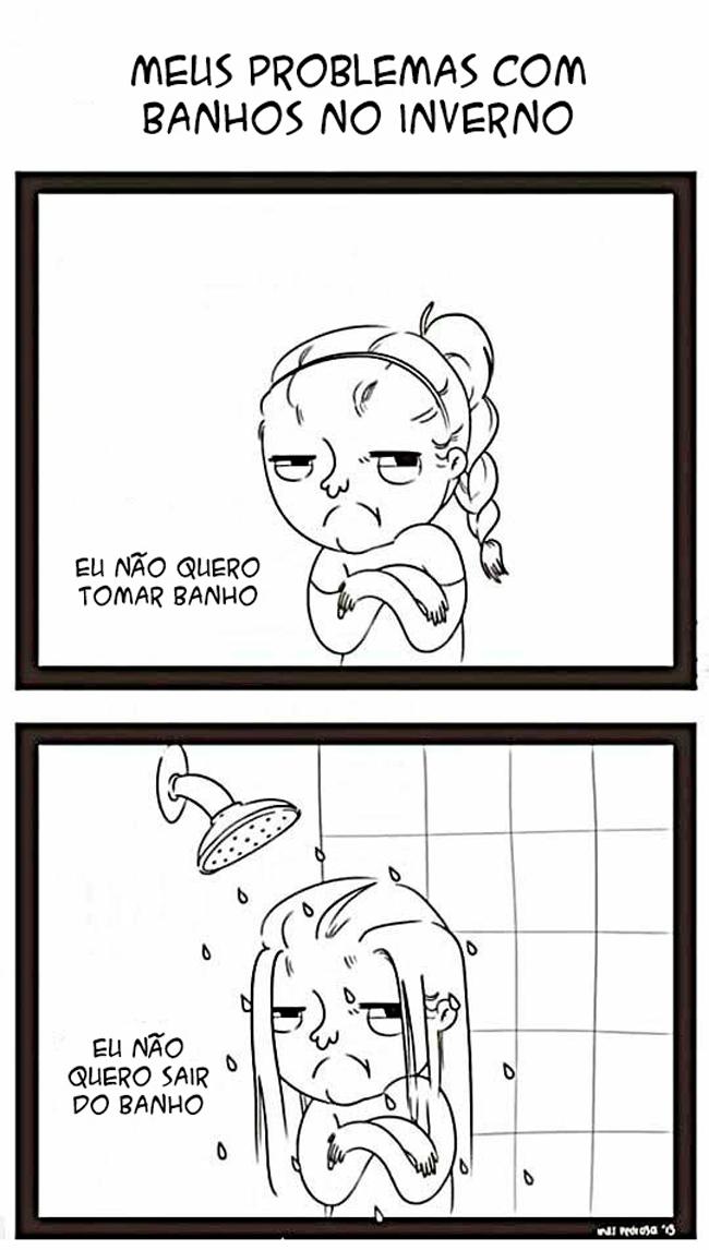 Tomar banho no tempo do frio
