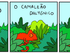 A triste história do camaleão daltônico