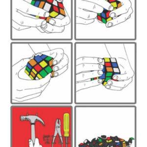 Resolvendo um cubo mágico em apenas 6 passos