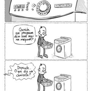Homem lavando roupa