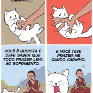 O gatinho carinhoso
