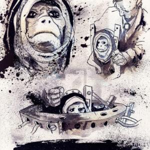 O primeiro macaco no espaço