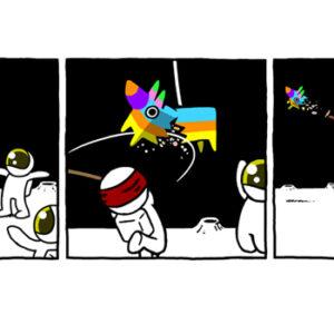 Brincando no espaço