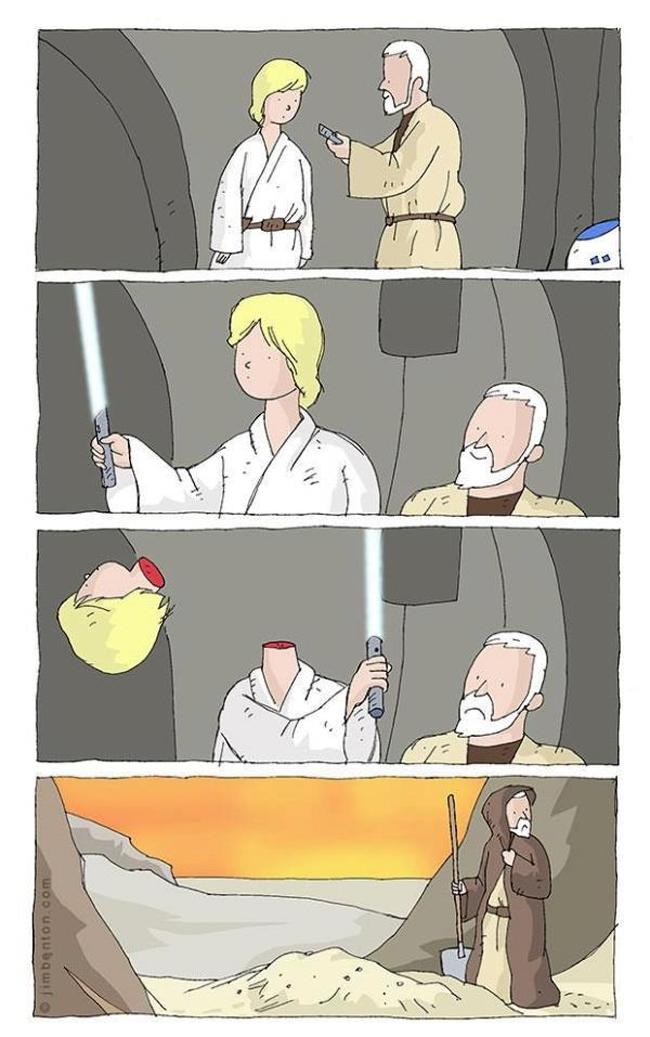 O primeiro sabre de luz a gente não esquece