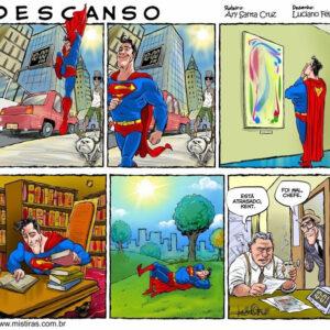 Superman também tem momentos de lazer