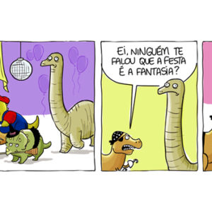 Festa à fantasia dos dinossauros