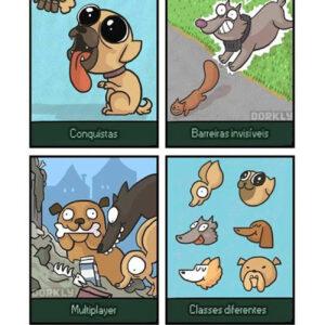 A vida de um cão é como um jogo