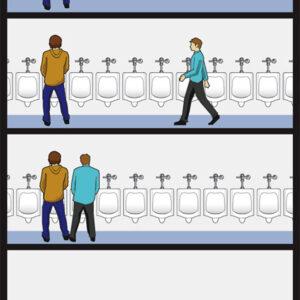 Só acontece no banheiro público