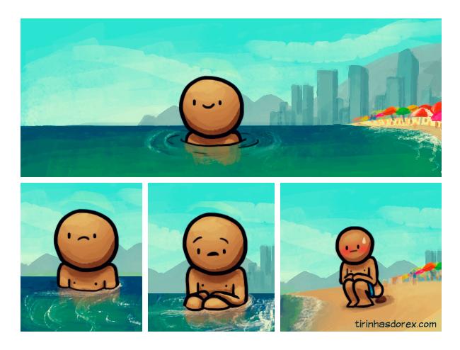 cagando-na-praia
