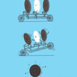 Como é feito um biscoito recheado?