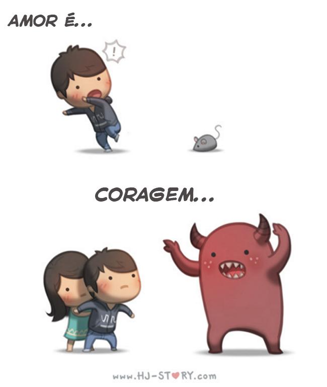 Amor é coragem
