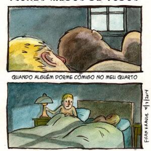 Dormir junto com alguém pode ser perigoso