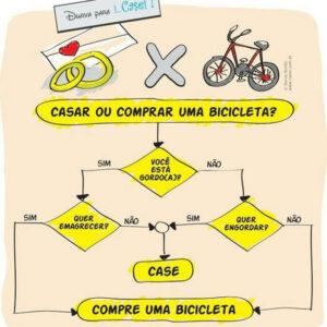 Casar ou comprar uma bicicleta?