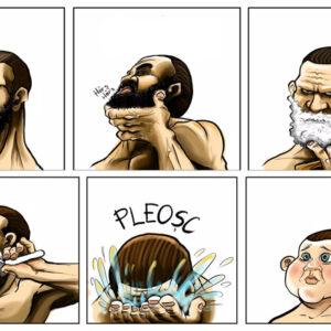 Quando um homem faz a barba