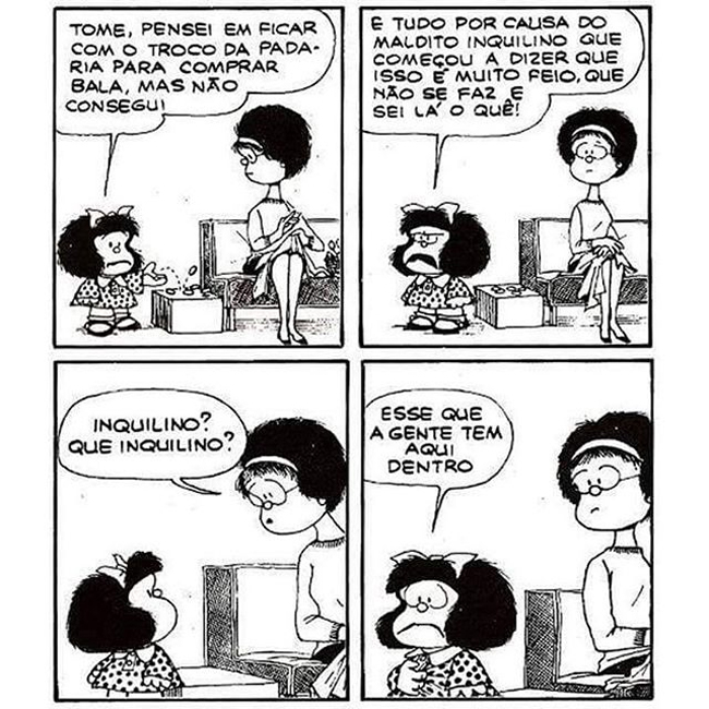 Mafalda, por Quino.
