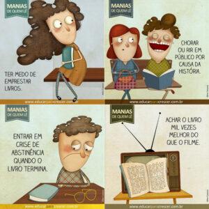 Manias divertidas de quem lê