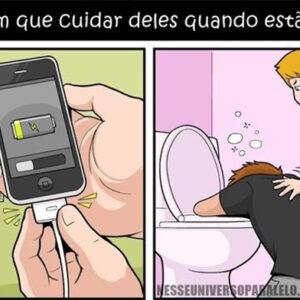 Seu celular é como seu amigo bêbado
