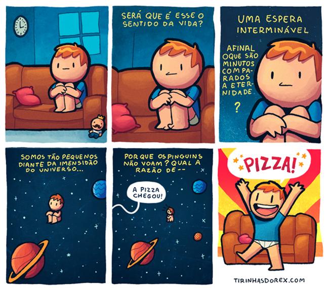 Pensando no sentido da vida no sofá de casa