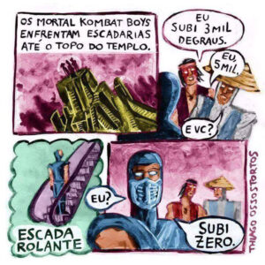 Mortal Kombat em um momento tenso