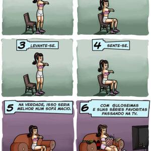 Fazendo exercícios com muita disposição