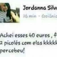 A menina que achou 40 euros e gastou da pior forma.