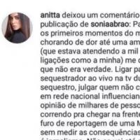 """Sônia Abrão """"mata"""" Arlindo Cruz e Anitta perde a linha."""