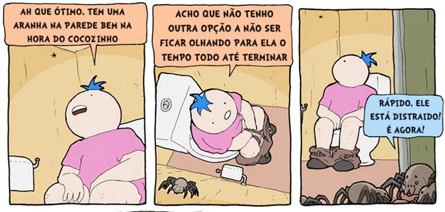 Não olhe se você tem medo de aranhas