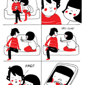 Amor no papel de parede do celular