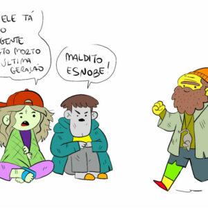 Quadrinhos para pensar em como a vida é idiota