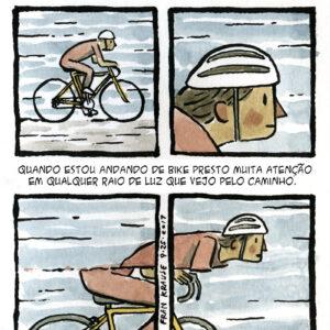 Um medo terrível quando ando de bike