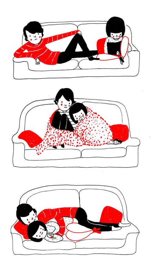 amor no sofá